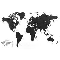 MiMi Innovations Väggdeko världskarta Luxury pussel svart 150x90cm