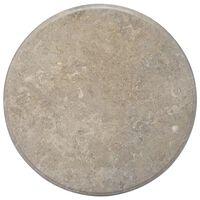vidaXL Bordsskiva grå Ø70x2,5 cm marmor