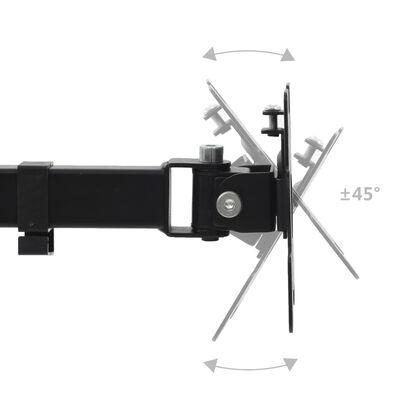 """vidaXL Skärmstativ 32"""" enkel arm höjdjusterbar"""