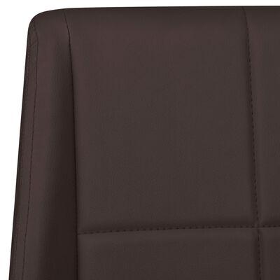 vidaXL Fribärande matstolar 6 st brun tyg