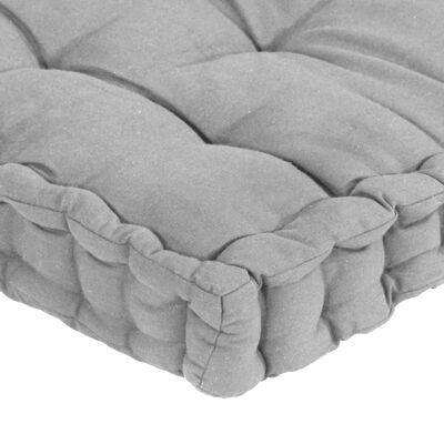 vidaXL Dynor till pallsoffa 4 st grå bomull
