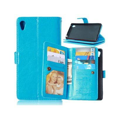 Dubbelflip Flexi 9-kort Sony Xperia Z3+ (E6553) Ljusblå