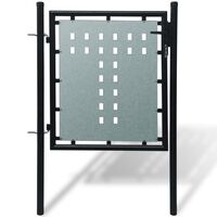 Grind singeldörr svart 100 x 150 cm