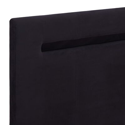 vidaXL Sängram med LED svart tyg 180x200 cm