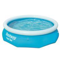 Bestway Pool uppblåsbar Fast Set rund 305x76 cm 57266