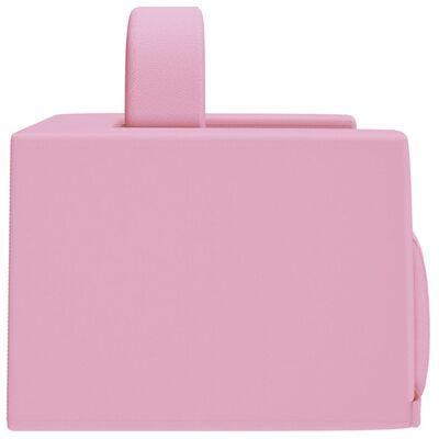 vidaXL 2-i-1 barnsoffa rosa konstläder