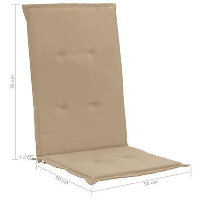 vidaXL Dynor för trädgårdsstolar 4 st beige 120x50x3 cm