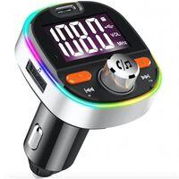 Fm-sändare Med Bluetooth-handsfree, Usb Och Stämningsfull Belysning