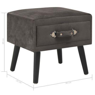 vidaXL Sängbord grå 40x35x40 cm sammet