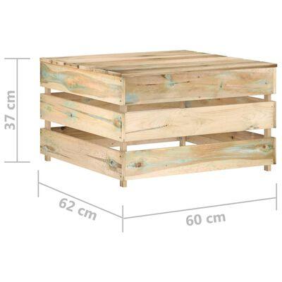 vidaXL Loungegrupp med dynor 10 delar tryckimpregnerat trä