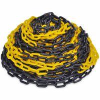 30 m Varningskedja i plast gul och svart