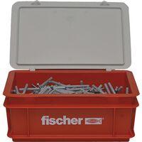 Fischer Spikskruvar set med pluggar N6x80 300 st