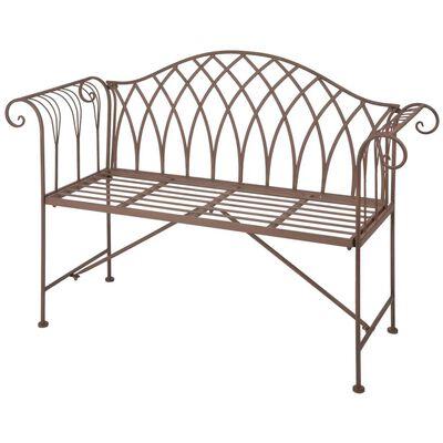 Esschert Design Trädgårdsbänk metall i Old English-stil MF009