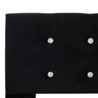 vidaXL Säng med madrass svart sammet 180x200 cm