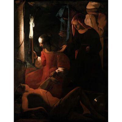 St Sebastian Attended by St Irene,Georges de La Tour,50x40cm