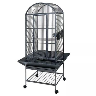 "Strong Parrot Cage ""Villa Minerva"" Silverstone Grey 46x46x144 cm 93017"