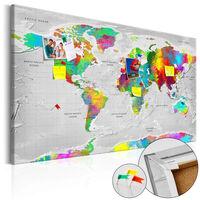 Anslagstavla - Maps: Colourful Finesse   - 120x80 Cm