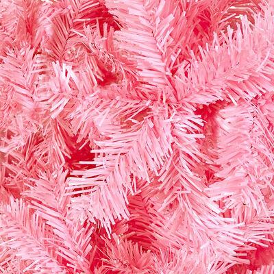 vidaXL Julgran smal rosa 210 cm