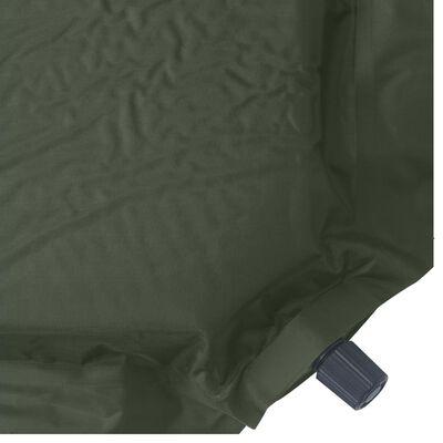 vidaXL Luftmadrass 66x200 cm mörkgrön
