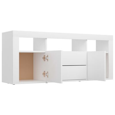 vidaXL TV-bänk vit 120x30x50 cm spånskiva