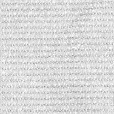 vidaXL Balkongskärm vit 120x600 cm HDPE