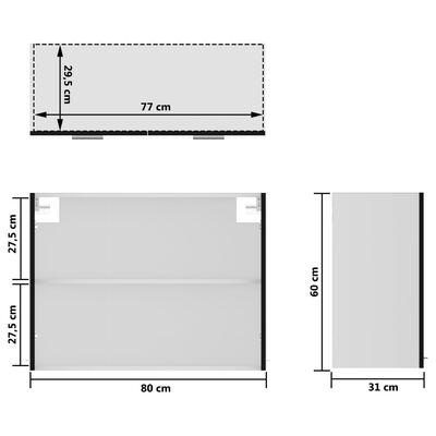 vidaXL Köksskåp set 7 delar svart spånskiva