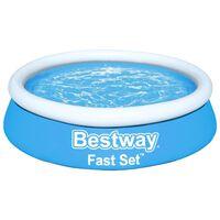 Bestway Uppblåsbar pool Fast Set rund 183x51 cm blå