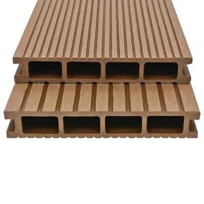 vidaXL WPC ihåliga golvplattor med tillbehör 36 m² 2,2 m teak