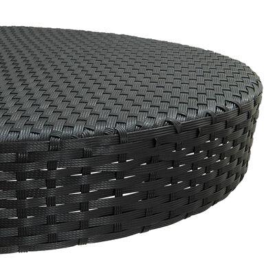 vidaXL Bargrupp för trädgården 5 delar konstrotting svart