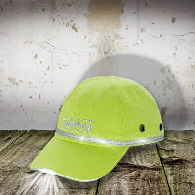 Toolpack Skyddskeps med LED limegrön