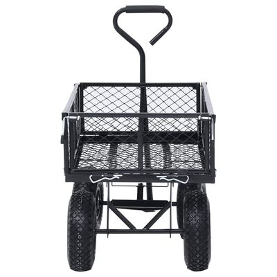 vidaXL Trädgårdsvagn svart 250 kg