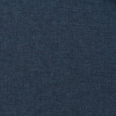 vidaXL Mörkläggningsgardin med krokar linnelook 2 st blå 140x175 cm