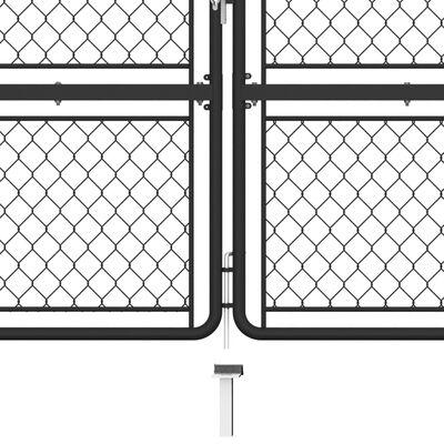 vidaXL Trädgårdsgrind stål 125x350 cm antracit
