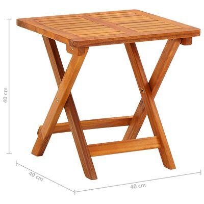 vidaXL Solsäng med bord och dyna massivt akaciaträ