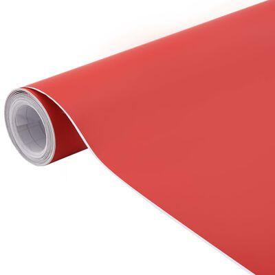 vidaXL Bilfoliering matt röd 500x152 cm