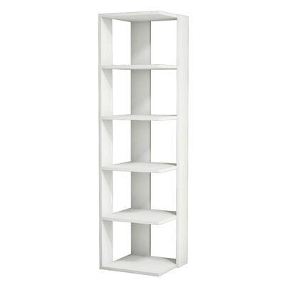 Homemania Bokhylla Corner 41,8x41,8x160,8cm vit