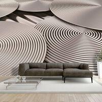 Fototapet -  Copper Spirals - 300x210 Cm