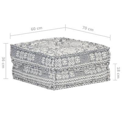 vidaXL Puff ljusgrå 60x70x36 cm tyg