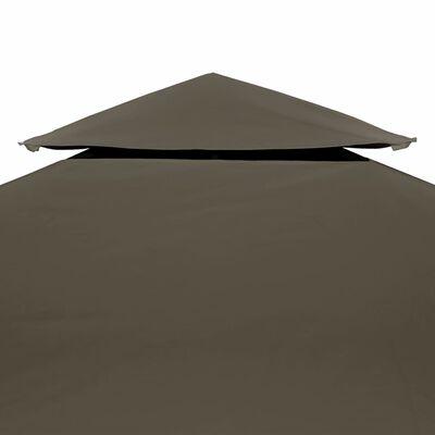 vidaXL Paviljongtak med ventilering 310 g/m² 4x3 m taupe