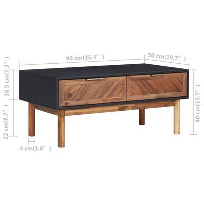 vidaXL Soffbord 90x50x40 cm massivt akaciaträ och MDF