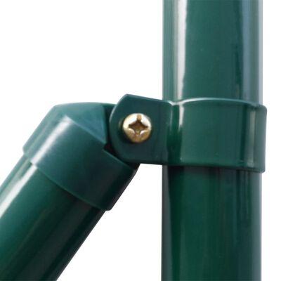 vidaXL Eurofence stål 10x1,2 m grön