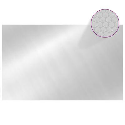 vidaXL Värmeduk för pool PE rektangulär 8x5 m silver