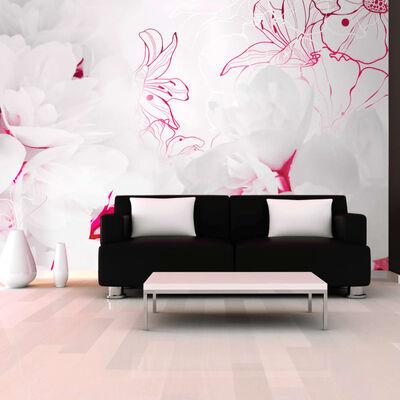 Fototapet - Enveloped In White - 300x210 Cm