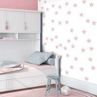 Fototapet - Pink Stars - 50x1000 Cm