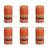 Bolsius Blockljus 130x68 mm 6-pack orange