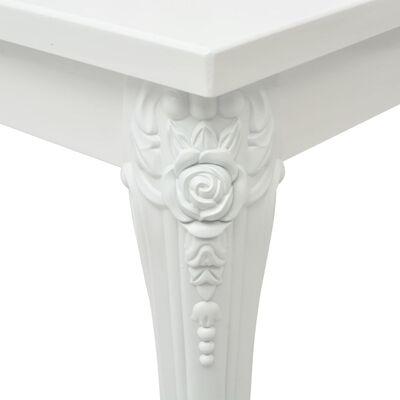 vidaXL Matbord 80x80x76 cm högglans vit