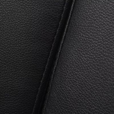 vidaXL Bäddsoffa med armstöd PVC svart justerbar