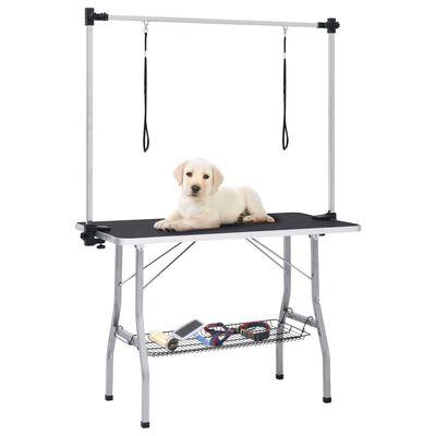 vidaXL Trimbord för hundar med 2 koppel och korg