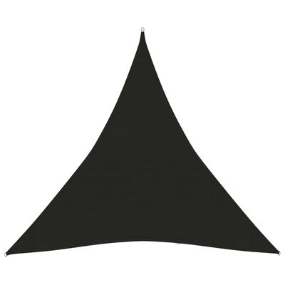 vidaXL Solsegel 160 g/m² svart 4x4x4 m HDPE