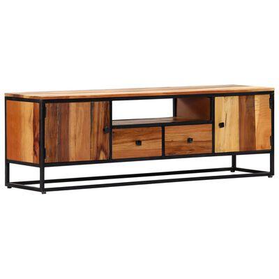 vidaXL TV-bänk 120x30x40 cm massivt återvunnet trä och stål